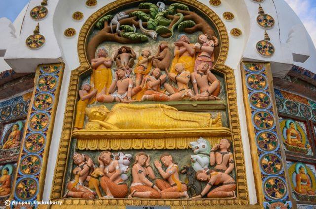 The death (or mahanirvana ) of Lord Buddha