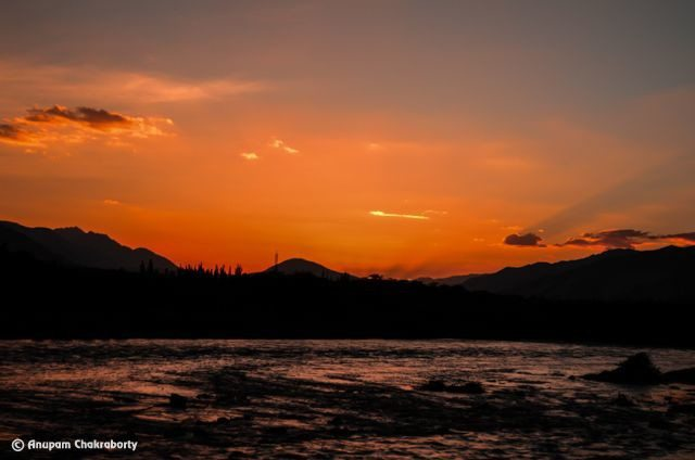 View of sunset from Sindhu Ghat