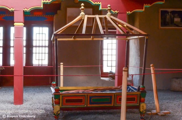 This Palanquin carried the last queen of Stok 'Gylmo Diskit Wangmo' all the way from Lahaul to Ladakh after she was married