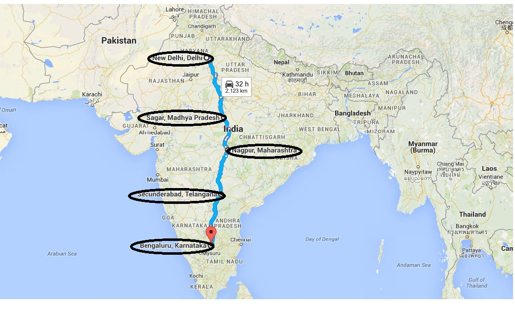 The Route taken
