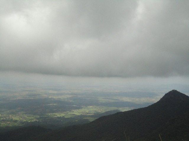 Heavy overcast surrounding the hill