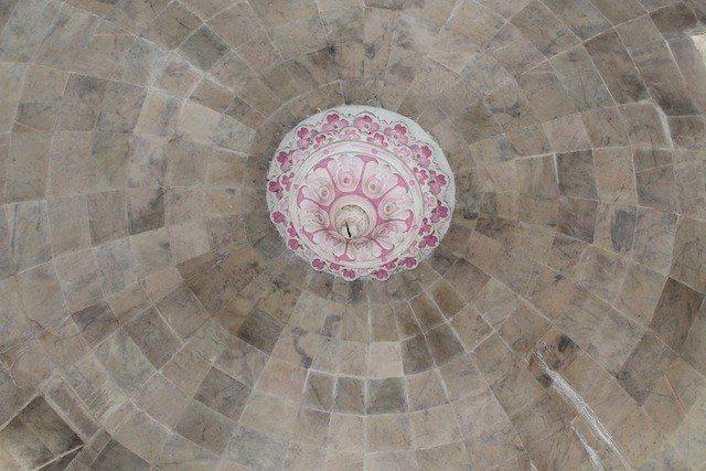 Ceiling of Jal Mandir