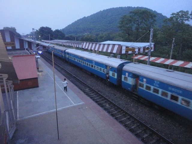 View of Parasnath railway station