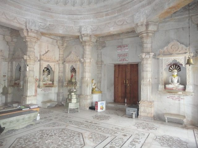 Inside a Jain Temple on way