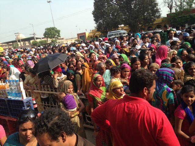 Rush at Wagah Border