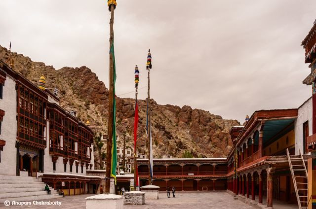 Courtyard of Hemis Monastery