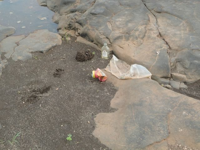 Such a Beautiful place and it was littered everywhere, with Liquor bottle!