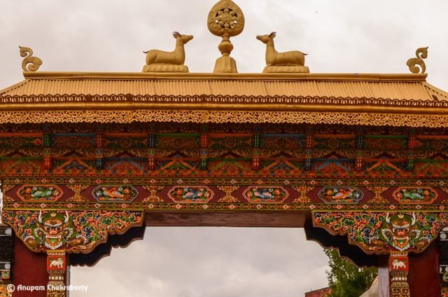 Entry Gate with the images of deer