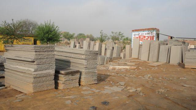 Bhilwara stones at Bhagwari Kalan