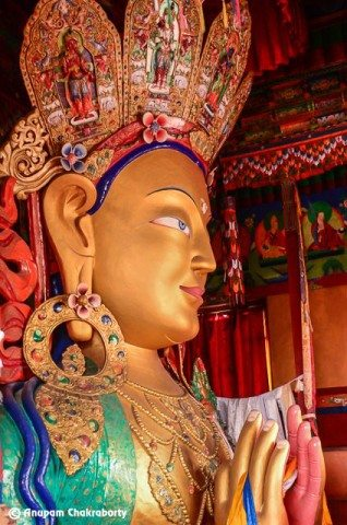 Maitreya Buddha from another angle