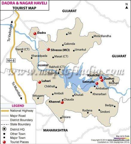 Dadra & Nagar Haveli Map