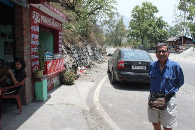 Stopping by the small dhabas on mountain roads
