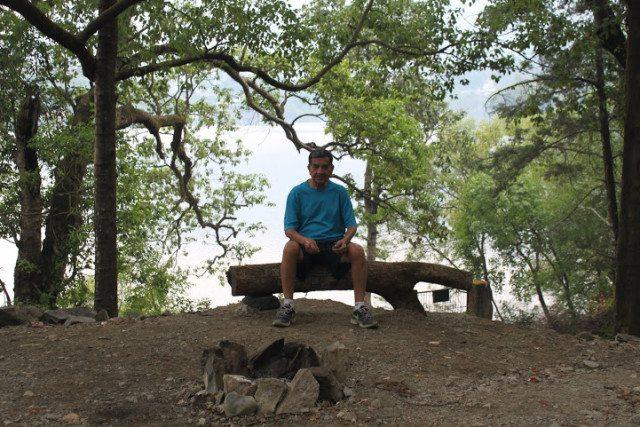 Jatinder Sethi under the Camphor Tree - edge of the lake