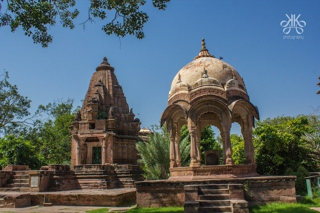 Majestic tomb inside the devals (cenotaphs) of Maharaja Shri Jaswant Singh