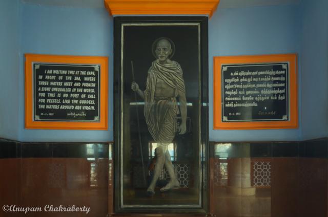 Image of Mahatma Gandhi inside the Memorial