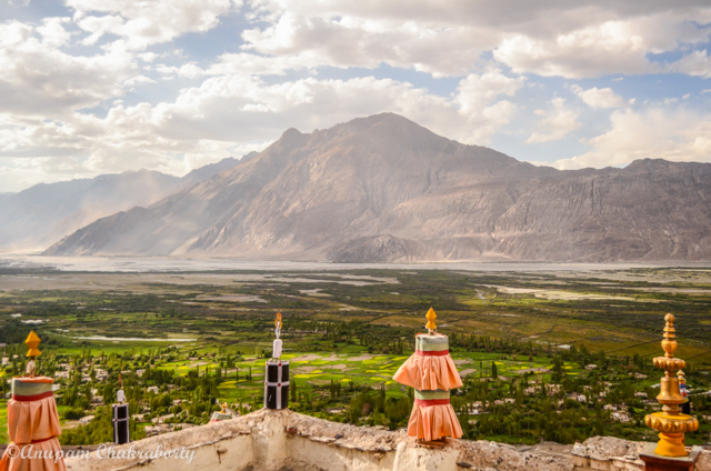 Spectacular views of Nubra Valley from the Monastery