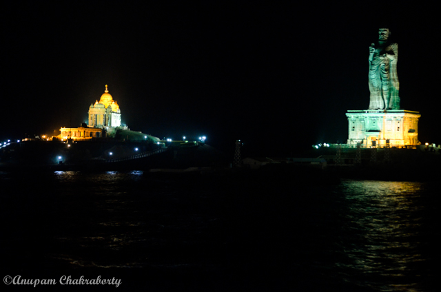 Night View of Vivekananda Rock Memorial