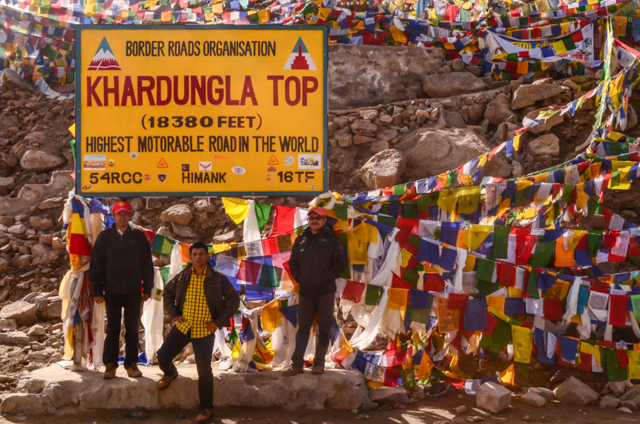 We too took the Photo with Khardung La Summit Signage