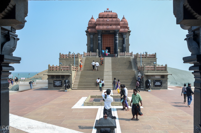 Another view of Vivekananda Mandapam, photo taken from Sri Pada Mandapam