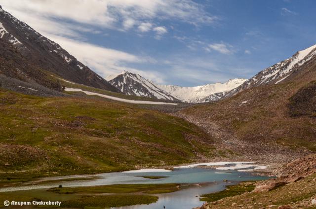 A Lake below the Khardung La Top