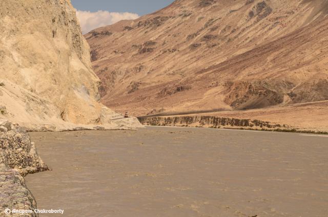 Muddy water of Shyok River