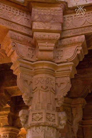 Stone carving on the rock and turned into a foundation pillor of a floor was a wonder of the architecture