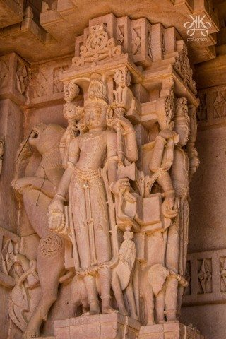 The entire fabric of the temple is covered with sculptures; hardly a square inch of space has escaped the carver's hand
