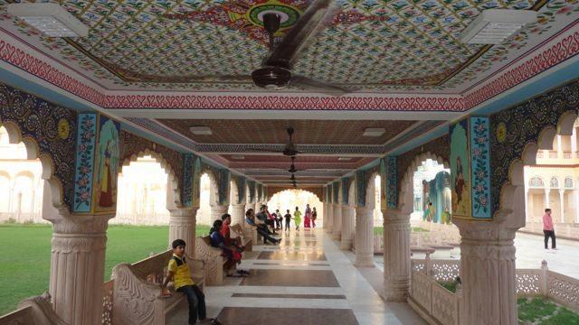 A beautifully painted corridor