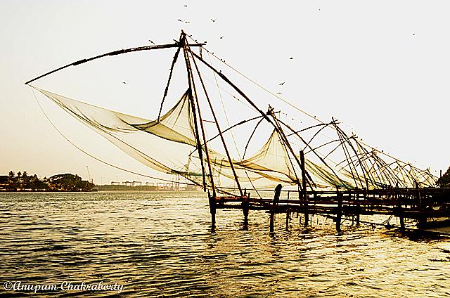 Chinese Fishing Nets at Fort Kochi Beach