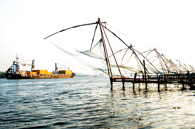 These beautiful Chinese Fishing Nets attracts more tourist near the seashore.