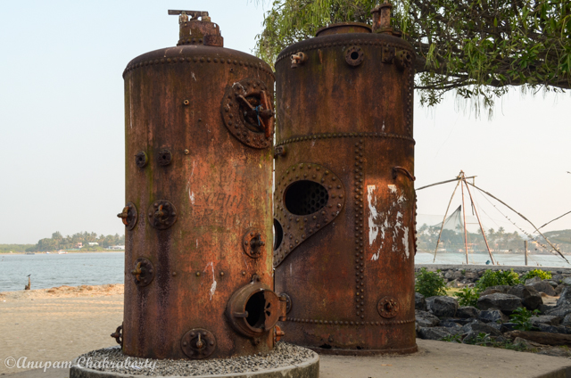 Steam Boilers of ship at Fort Kochi beach