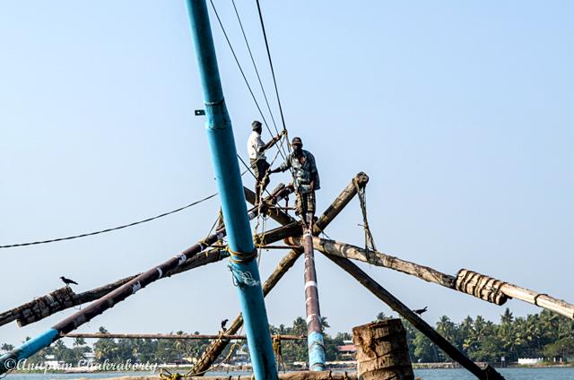 Fishing net in operation