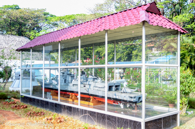 A model of warship