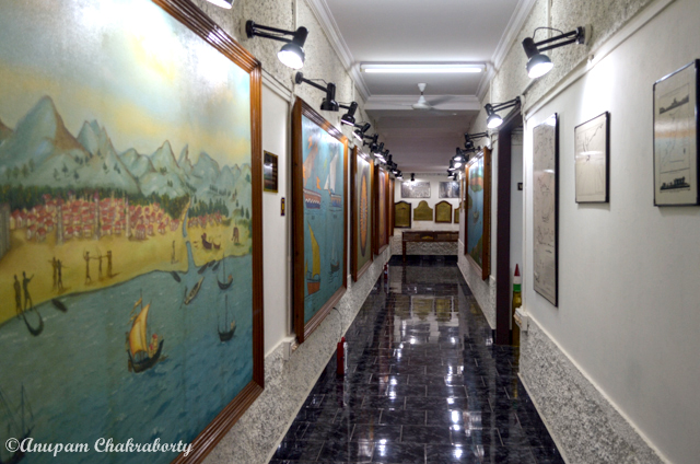 Corridors of the museum are beautifully decorated with paintings