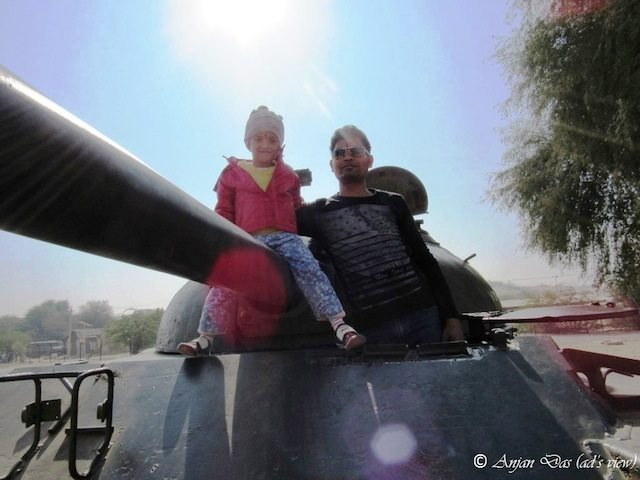 On the tank