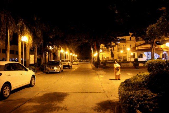 शांतिवन परिसर, आबू रोड का एक दृश्य
