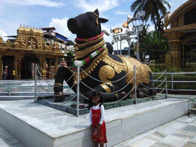 Statue Outside  Kudroli Temple-2