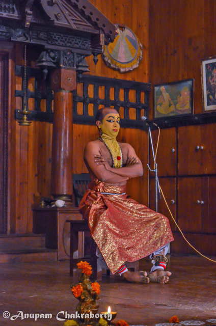 Demonstration of various Kathakali gestures were shown first