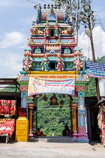 Entry Gate of Dhari Devi Temple along the Badrinath Highway