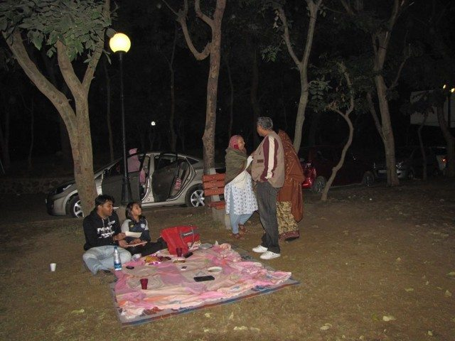 Picnic in the night