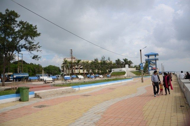 The new walkway from old Digha to new Digha