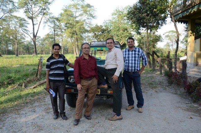 Another group photo. From left Tiku, Rajib, me, and Yogendra