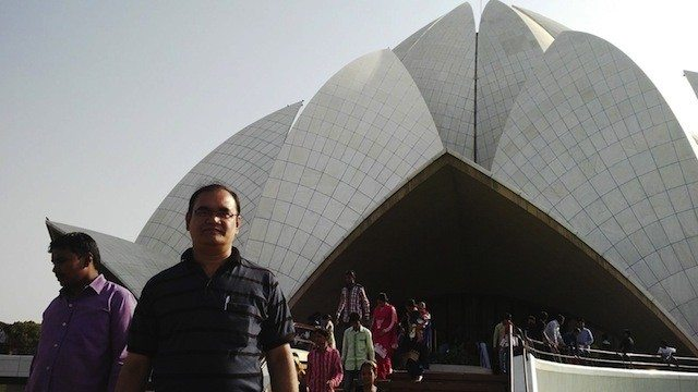 In front of Lotus temple