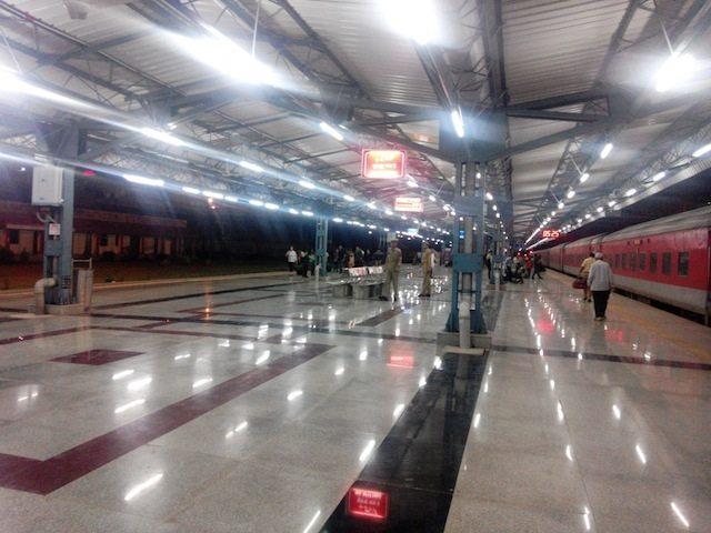 A platform in Shri Mata Vaisno Devi Katra railway station