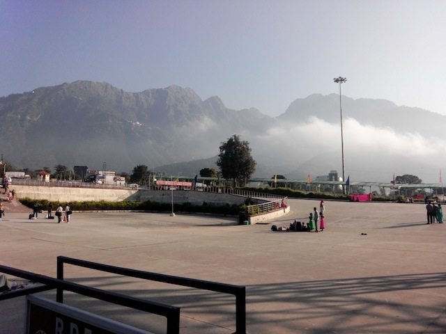 View of Trikut parvat from entrance of Katra railway station