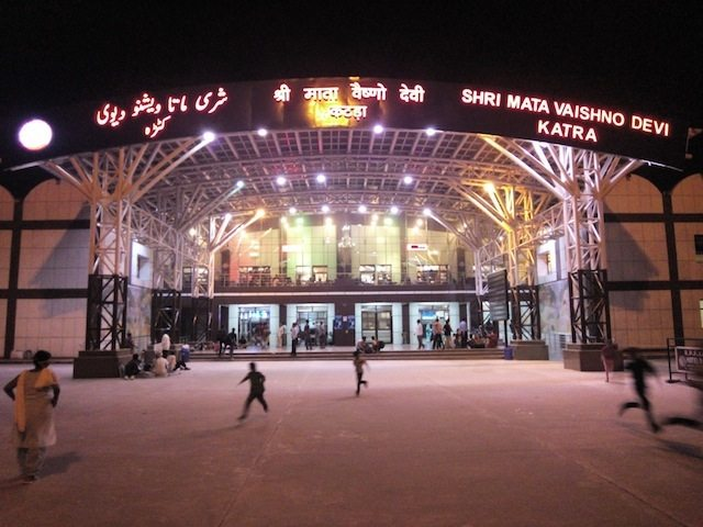 The Katra station in the night