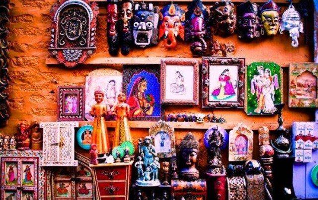 Vibrant handmade crafts