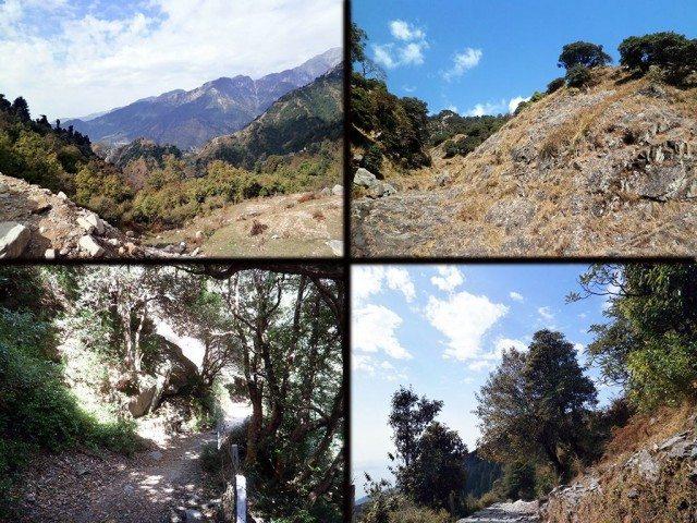 त्रिउण्ड पर्वतारोहण मार्ग पर कुछ मनोहारी दृश्य