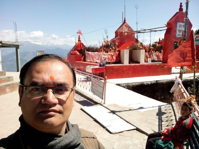 Selfie before the Pohlani Mataji temple