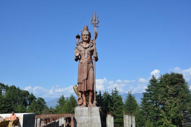 The 81 feet tall idol of Lord Shiva near Khajjiar